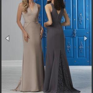 Christina Wu 22855 Lace Godet Back Bridesmaid